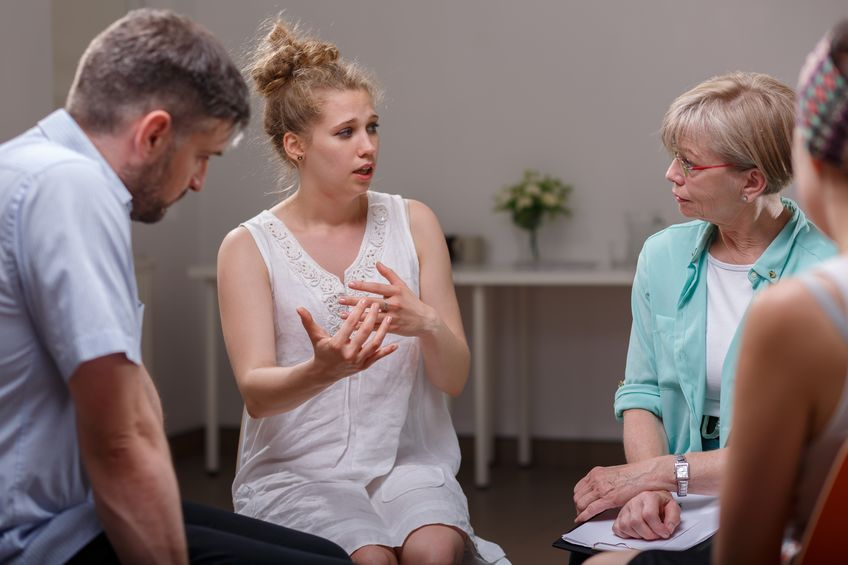 Community pain program therapy session