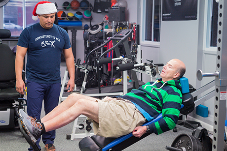 Kent Keyser at NRH's Adaptive Fitness Center in Washington, DC