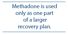 Methadone is used only as one component of a larger treatment plan